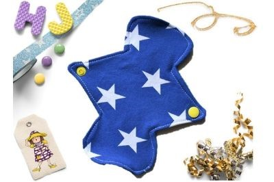 Click to order  Single Cloth Pad Royal Blue Stars now